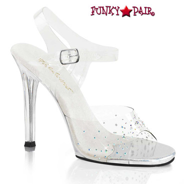 Fabulicious | Gala-08SD, 4.5 Inch Heel with Rhinestones on Vamp