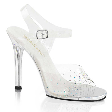 Gala-08SD, 4.5 Inch Heel with Rhinestones on Vamp by Fabulicious