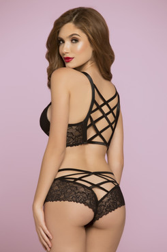 STM-10784, Rose Galloon Lace Bustier - Bottom not Included