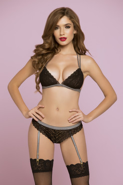 STM-10786, Geo Galloon Lace Bralette