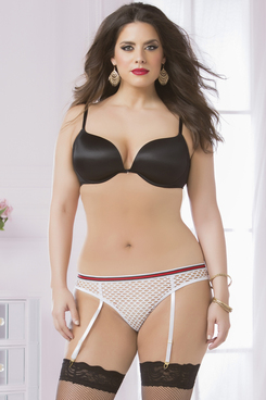 STM-10579X, Fishnet Panty with Garters