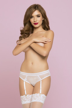 STM-10764, Lace and Dot Mesh Panty