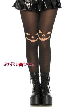 Womens Halloween Black Jack O'Lantern Tights | Leg Avenue LA7740