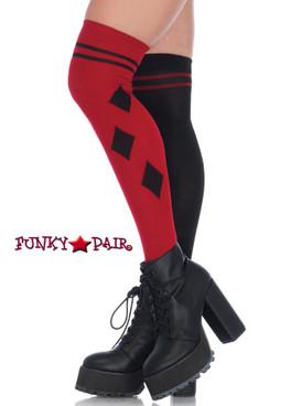 Red/Black Harlequin Stockings Socks | Leg Avenue (LA6632)