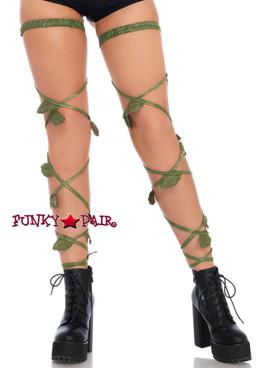 Green Ivy Garter Leg Wraps (LA1939) by Leg Avenue