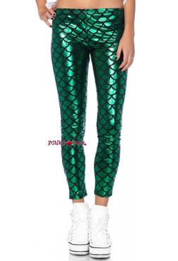 Women's Green/Black Mermaid Leggings | Leg Avenue 13551