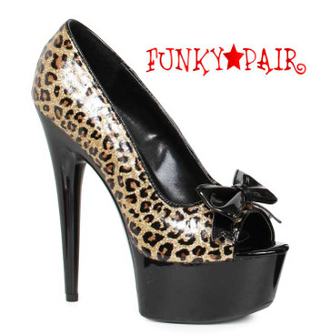 "Ellie Shoes | 609-Royce 6"" Leopard Prints Pump"