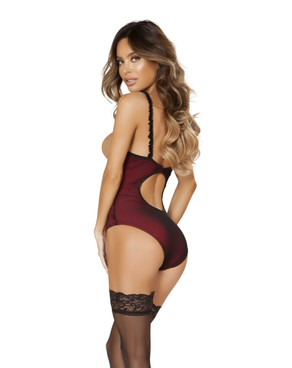 LI180, Underwire Cutout Top Teddy