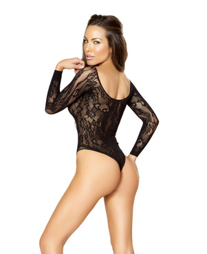 LI202, Lace Bodysuit Open Crotch