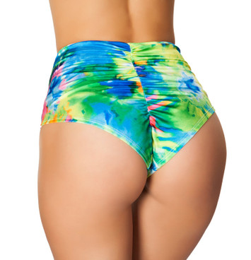 R-3450, Tie Dye High Waist Shorts