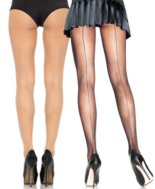 Sheer Backseam PantyHose by Leg Avenue | LA-9002