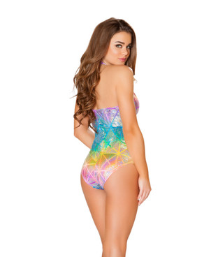 R-3434, Colorful Holster Cutout Romper