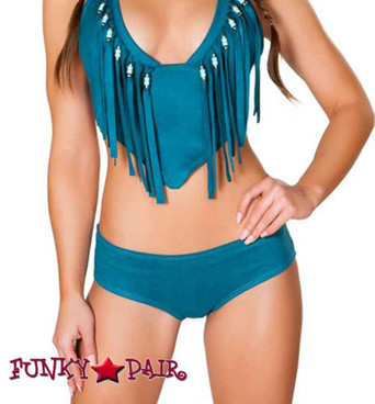 JV-FF691, Rave Faux Suede Basic Short color teal