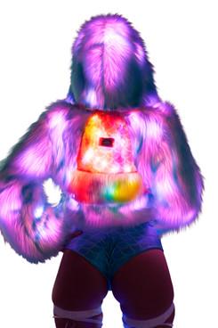 JV-FF804, Light-up Backpack Koi Pink/Orange