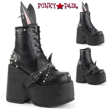 Demonia Women's Camel-202, Bunny Ear Design Boots