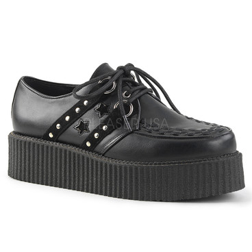 V-Creeper-538, 2 Inch Oxford with Studs and Bat Detail
