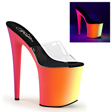 8 Inch Stripper Platform Shoes Pleaser Shoes Rainbow-801UV
