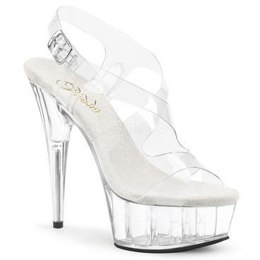 Delight-630, 6 Inch Stiletto Heel Slingback Platform