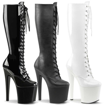 Taboo-2023, Exotic Dancer Knee High Boots by Pleaser