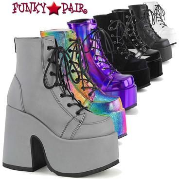 "Demonia | Camel-203 5"" Chunky Platform Ankle Boots"