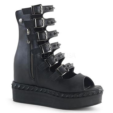Venom-110, 4.25 Inch Wedge Platform Sandal
