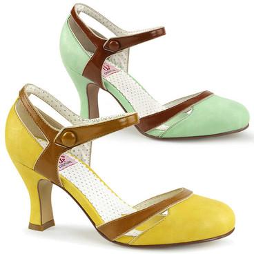 Flapper-27, Kitten Heel D'orsay Pump | Pin-Up Couture