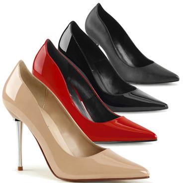 4 Inch Metal Stiletto Heel Pump Pleaser | Appeal-20,