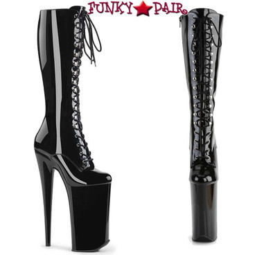 "Pleaser Beyond-2020, 10"" Extreme High Heel Knee High Boots"