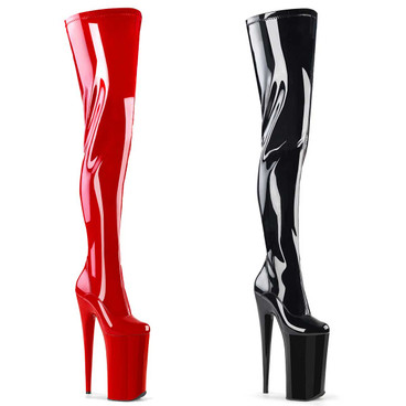 "Beyond-4000, 10"" Fetish Heel Thigh High Boots by Pleaser"