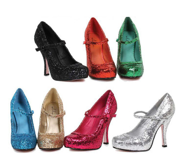 "4"" Glitter Maryjane Shoes Ellie Shoes 