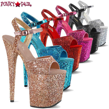 Where To Buy Pleaser Glitter Stripper Shoes | FunkyPair.com