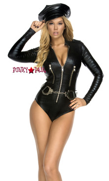 FP--554607, Trashbag Bodysuit with Zipper Detail