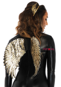 A2792, Gold Sequin Wings