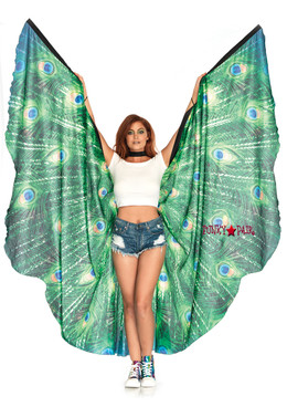 A2786, Peacock Feather Halter Wings