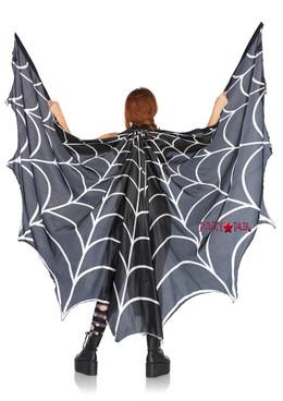 A2787, Spiderweb Print Wing Cape