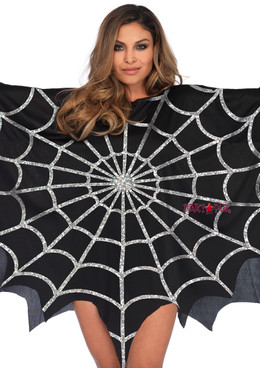 3762, Glitter Web Poncho