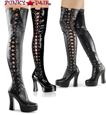 Pleaser Boots | ELECTRA-3050, Platform Thigh High Boots