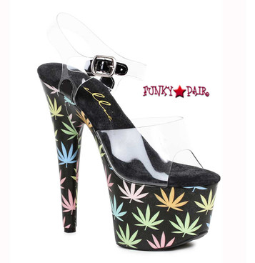 709-Chronic, 7 Inch with Leaf Accent on Platform   FunkyPair.com