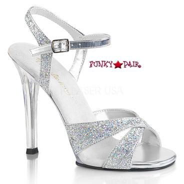 "Fabulicious | Gala-19, 4.5"" Bridal Sandal Criss Cross Straps"