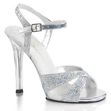 Fabulicious Women's Gala-19 Glitter Criss-Cross Sandal