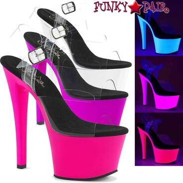 Pleaser Sky-308UV, 7 Inch UV Reactive Platform Bottom
