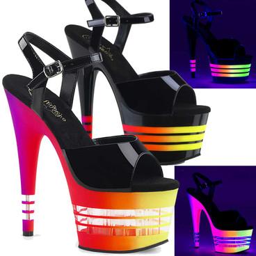 Stripper Shoes   Adore-709UVLN, UV Blacklight Reactive Lines