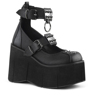 Women's Demonia | Kera-12, Dual Buckles Platform Mary jane