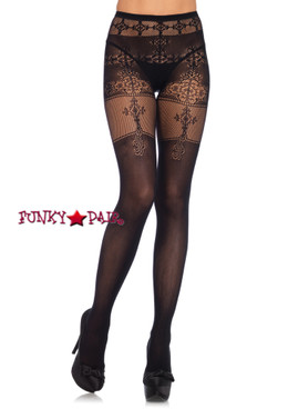 LA9329, Tights with Filigree net Detail