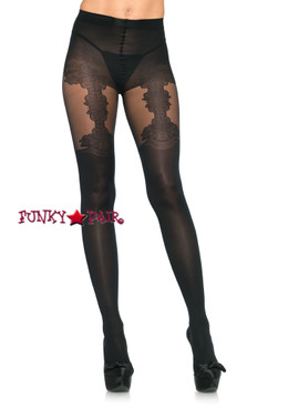 LA7132, Tights with Garter Belt Detail