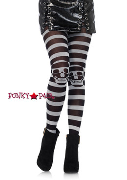 LA7131, Striped Skull Tights