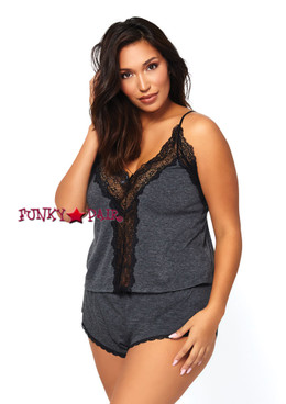 SE8887X, Brushed Jersey and Lace Cami with Boyshort