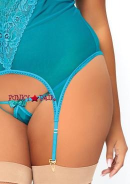 Leg Avenue | LA-89162X, Mesh and Lace Cami Garter Set