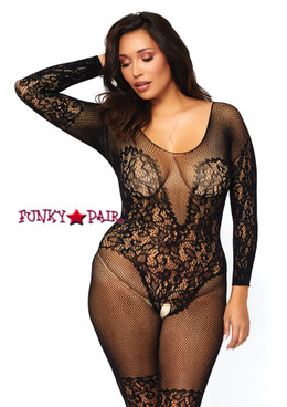 LA89190Q, Vine Lace Bodystocking