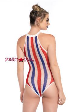 LA81557, Striped Bodysuit